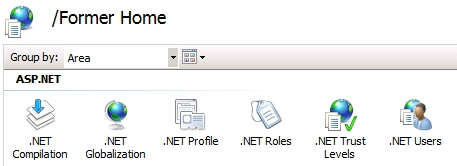 IIS Application menu